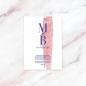 Suisai - Modern Watercolour Wedding Invitation | Full colour digital printing