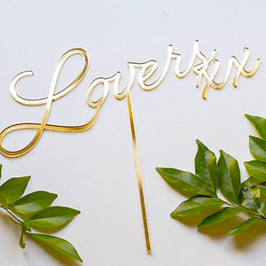 Lovers Bridal Shower Cake Topper