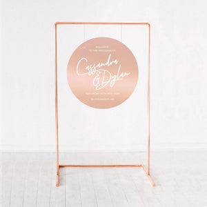 circle wedding signs