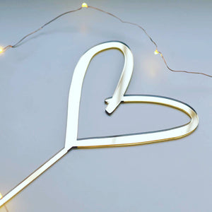 Brush Heart Cake Topper
