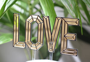 LOVE Engagement or Wedding Cake Topper