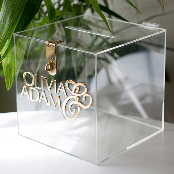 Hire - Personalised Wishing Well Card Box | Clear Acrylic