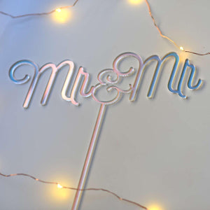 Mr and Mr Cake Topper | Wedding