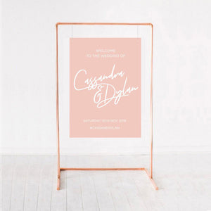 Wedding sign pink