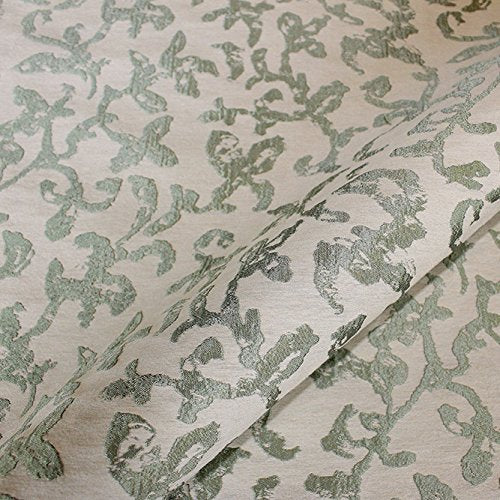 Hand painted vine pattern upholstery fabric