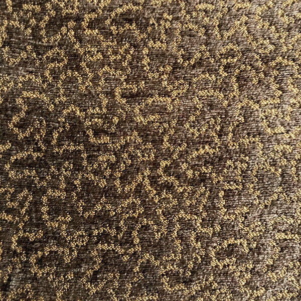 chenille winding path pattern upholstery fabric