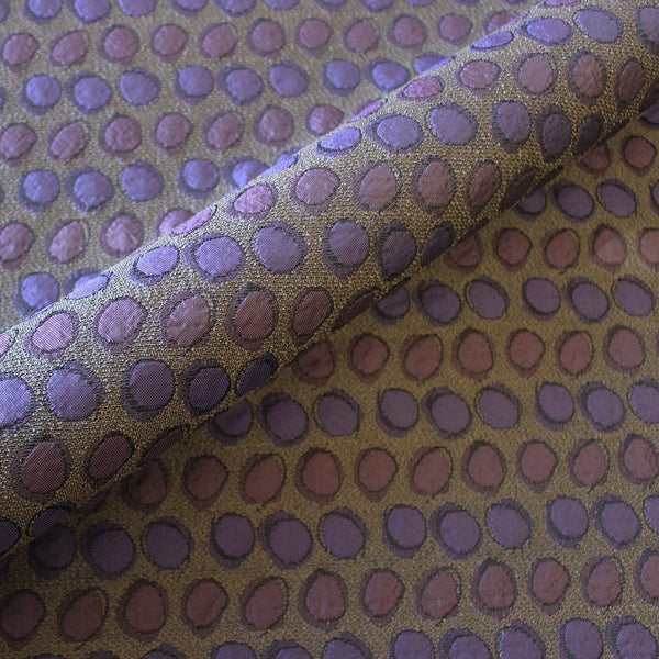 Hand drawn circles pattern upholstery fabric