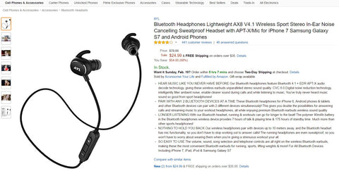 amazon listing good title example bluetooth headphones
