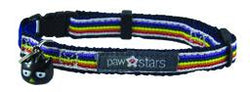 Rainbow ribbon cat collar