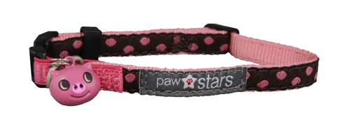 Cocoa ribbon cat collar