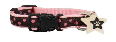 Cocoa ribbon puppy collar
