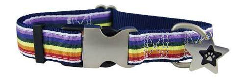 Rainbow Ribbon Collar