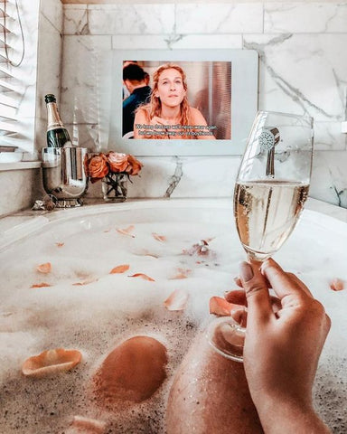 bubble bath and prosecco