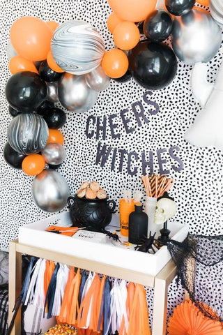 halloween party decorations with balloons