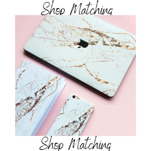 Coconut Lane's Rose Gold Marble Macbook Skin, Phone Case and Notebook