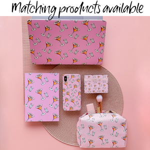 Coconut Lane's Passion Fruit Martini Collection including Macbook Case, Notebook, Phone Case, Card Holder and Make Up Bag