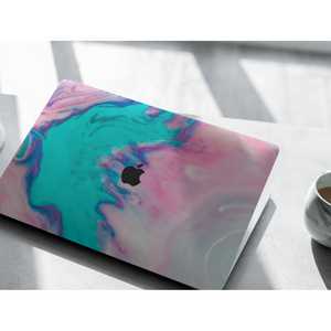 Coconut Lane's Aqua Splash Macbook Skin