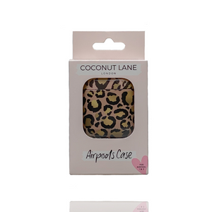 Airpods Case - Gold Leopard in box on white background