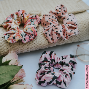 @sallyannelouise photos of Pink Dachshund Scrunchie Nude Spots Scrunchie, and Abstract Scrunchie