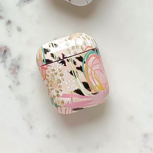 Airpods Case - Abstract in box on white marble background