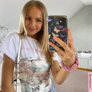 @zoegibson__ with Clear Butterfly Phone Case