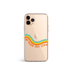 Clear Go With The Flow Phone Case