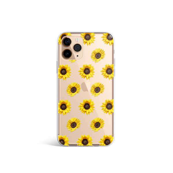 Clear Sunflowers Phone Case