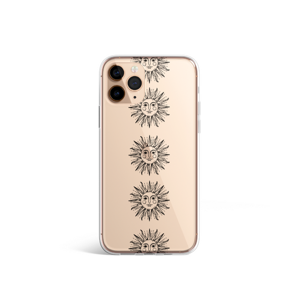Clear Phone Case - Sun