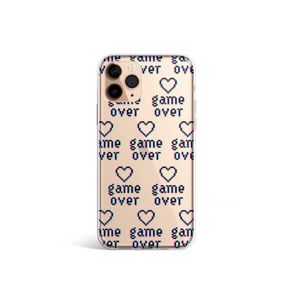 Clear Game Over Phone Case