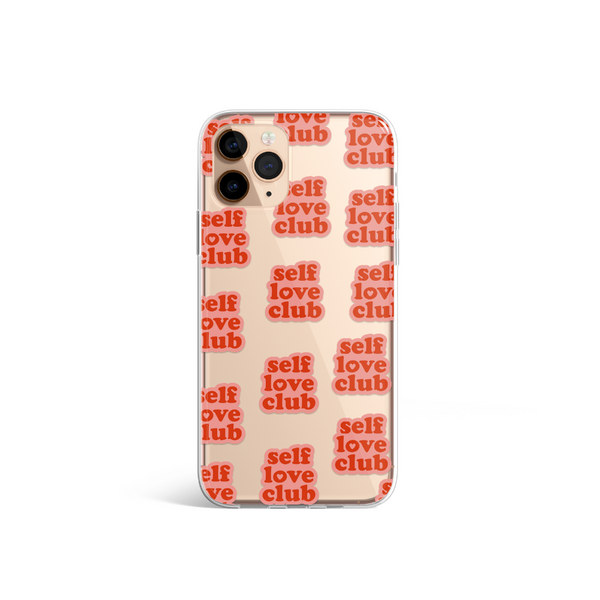 Clear Self Love Club Phone Case