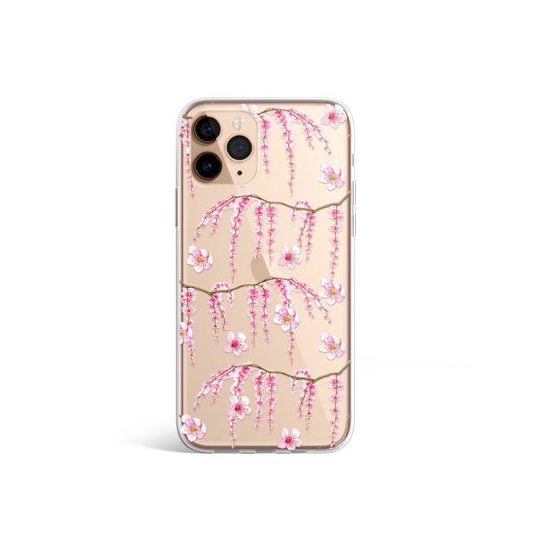 Clear Cherry Blossom Phone Case