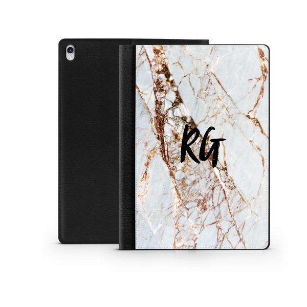 Personalised Ipad Case - Rose Gold Marble