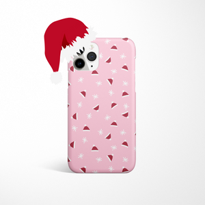 Limited Edition Christmas Phone Case - Santa Hats on white background
