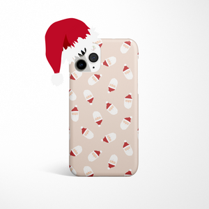 Limited Edition Christmas Phone Case - Santa on white background with santa hat