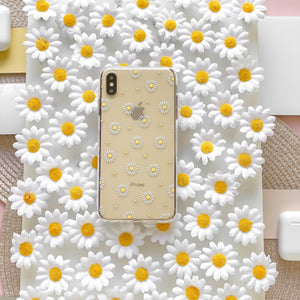 Clear Phone Case - Daisy surrounded by daisies