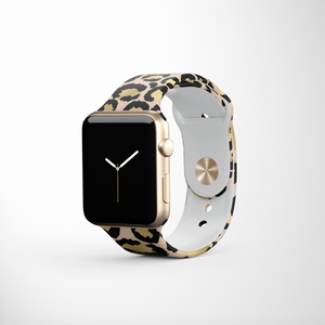 Gold Leopard Apple Watch Strap