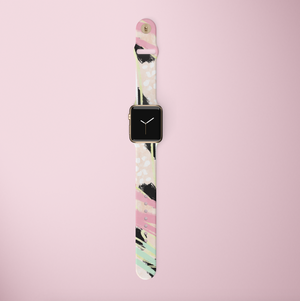 Abstract Vibes Apple Watch Strap on pink background