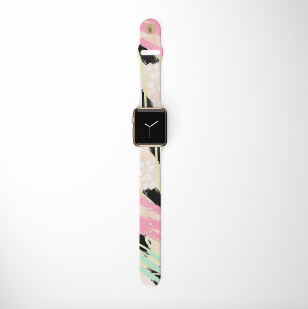 Abstract Vibes Apple Watch Strap on white background