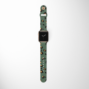 Khaki Leopard Apple Watch Strap