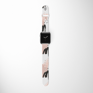 Nude Abstract Apple Watch Strap