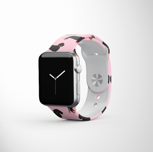 Pink Dachshund Apple Watch Strap