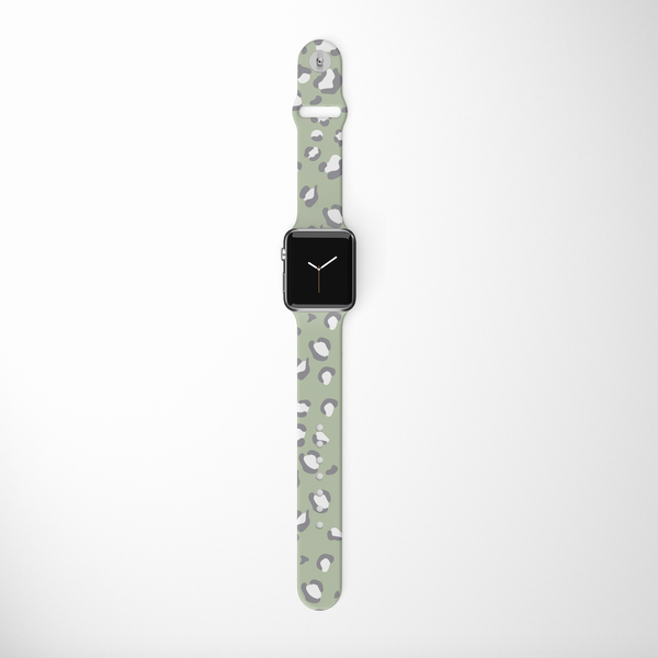 Sage Leopard Apple Watch Strap