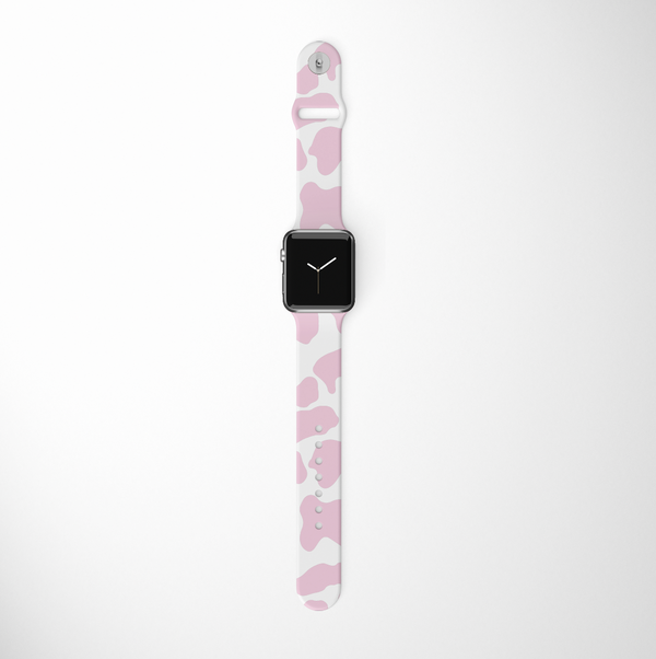 Pink Cow Apple Watch Strap