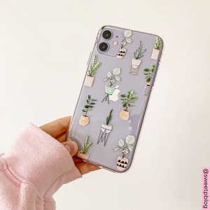 Clear Phone Case - House Plants