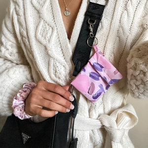 Lilac Brush Face Covering Keyring Bag