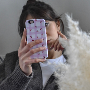 Limited Edition - Valentine's Phone Case - Gingham Cherries