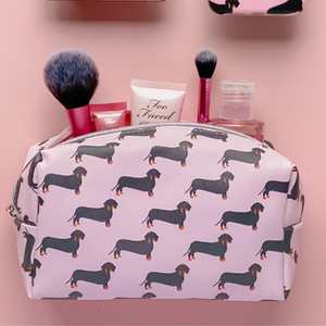 Pink Dachshund Make Up Bag