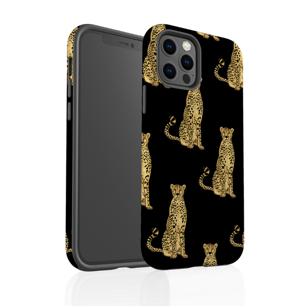 Tough Phone Case - Cheetah on Black