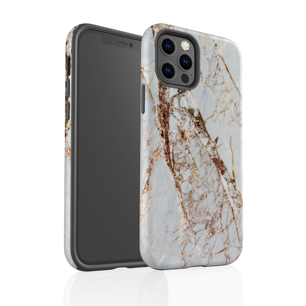 Tough Phone Case - Rose Gold Marble