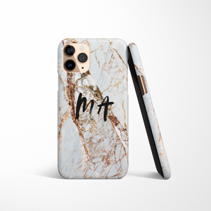 Personalised Phone Case - Rose Gold Marble